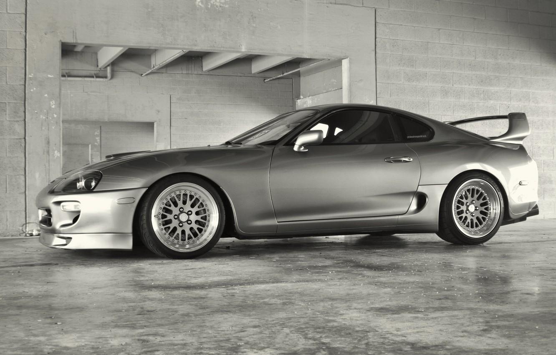 Photo wallpaper grey, tuning, silver, tuning, Toyota, supra, Toyota supra