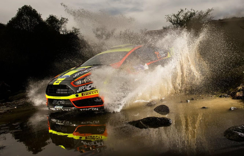 Photo wallpaper Ford, Ford, Squirt, WRC, Fiesta, Martin Prokop
