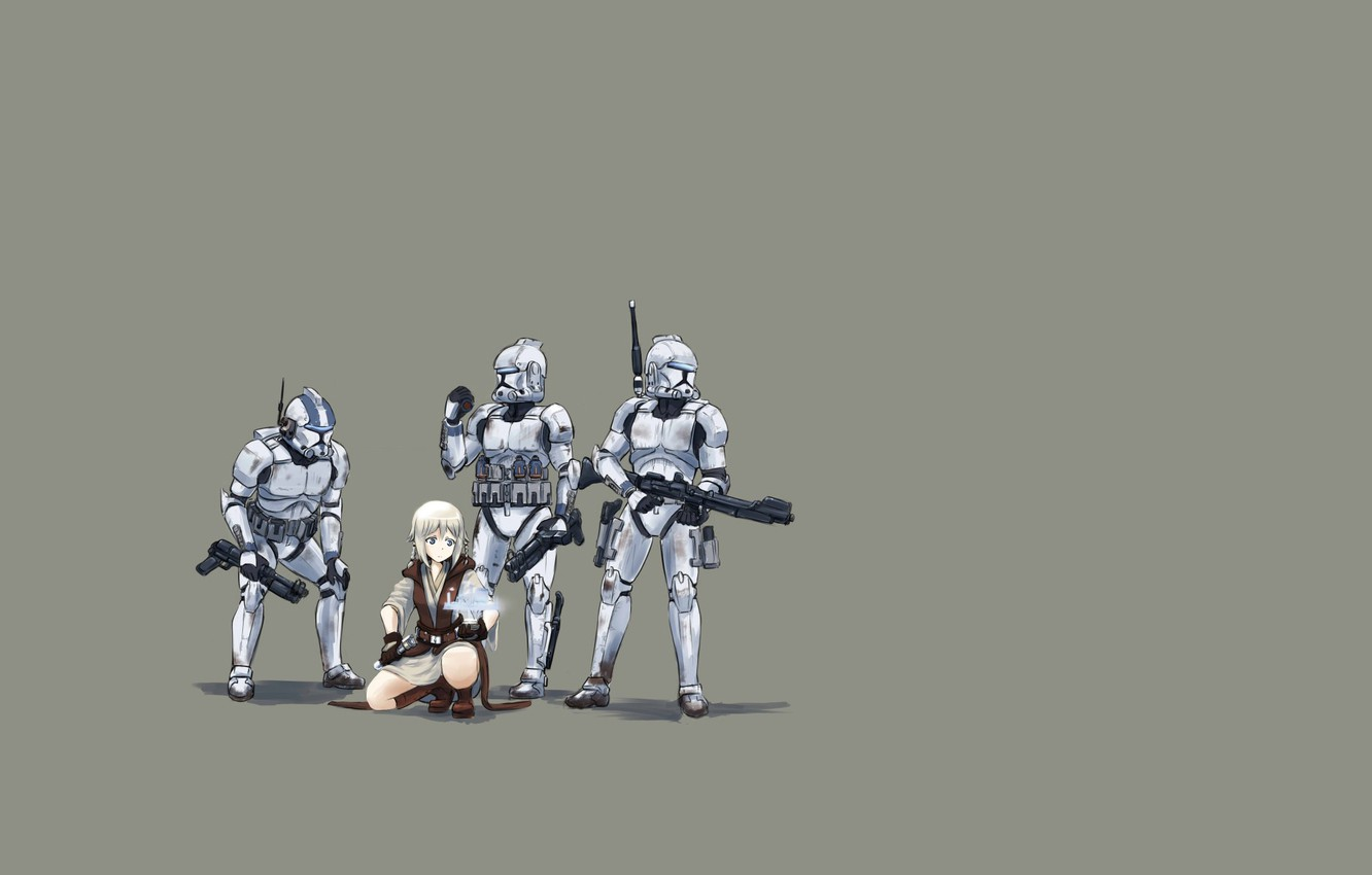 Wallpaper Minimalism Star Wars Star Wars Green Background Jedi Clones Images For Desktop Section Prochee Download