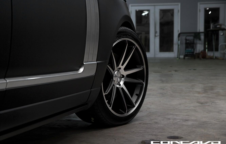 Photo wallpaper style, wheel, Matt, Range Rover, black, Vogue, concave