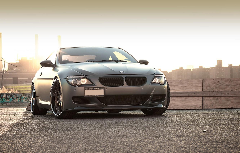 Photo wallpaper black, BMW, BMW, Matt, Blik, 645i, 6 Series, E63
