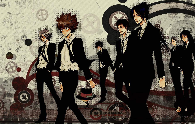 Photo wallpaper art, Lambo, art, characters, sawada tsunayoshi, Sawada Tsuyoshi, katekyo Hitman reborn!, teacher-mafia reborn!, gokudera, the …