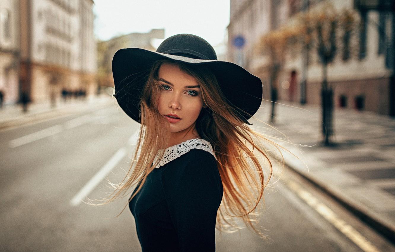 Photo wallpaper Girl, Look, The wind, Hair, Beautiful, Panama, Irina Regent