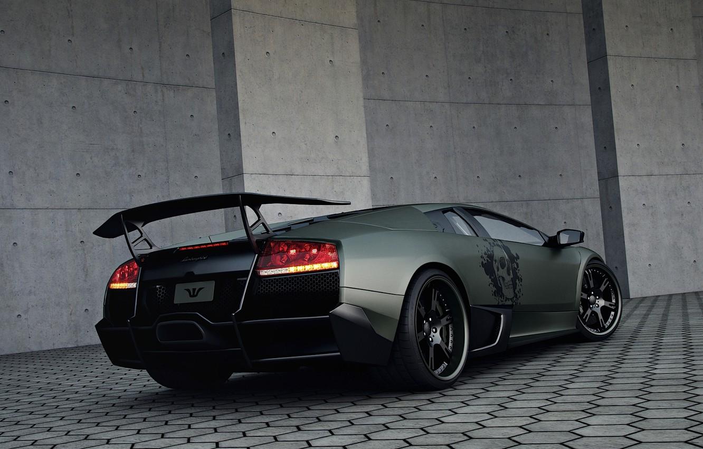 Photo wallpaper tuning, ass, Lamborghini, Wheelsandmore, Murcielago, SuperVeloce, LP720-4