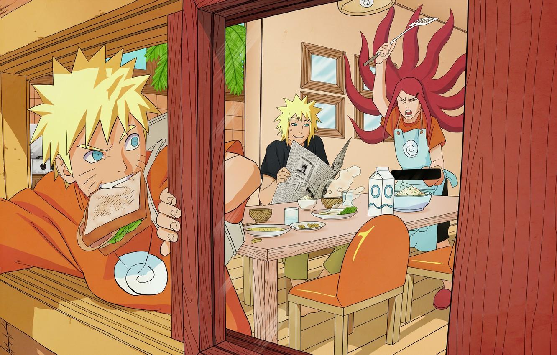 Photo wallpaper anime, naruto, naruto, kushina, the fourth Hokage, Minato, namikaze, yondaime hokage