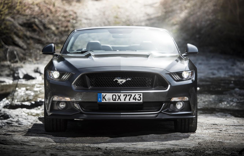 Photo wallpaper Mustang, Ford, Mustang, convertible, Ford, Convertible, 2015, EU-spec
