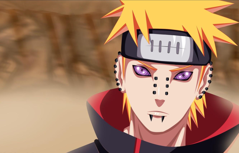Wallpaper Naruto Sharingan Evil Akatsuki Piercing Yahiko