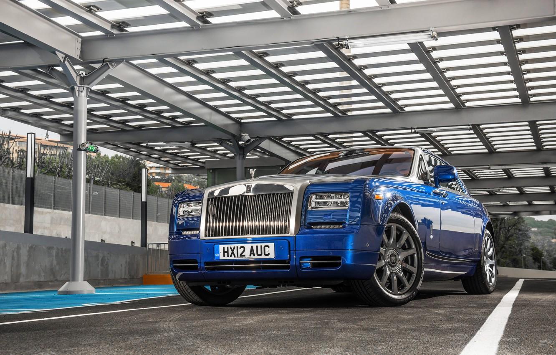 Photo wallpaper Auto, Blue, Phantom, Wheel, Case, Rolls Royce, Suite, The front