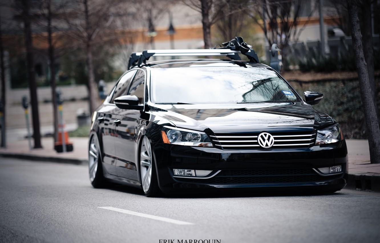 Photo wallpaper Auto, Road, Volkswagen, 2013, Passat
