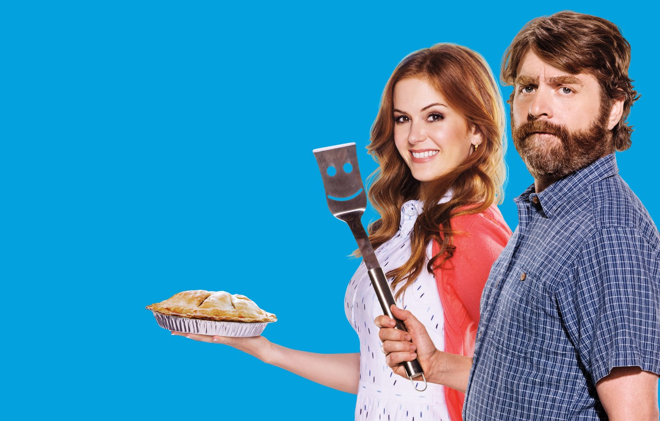 Photo wallpaper action, Jeff Gaffney, Karen Gaffney, pair, Comedy, Zach Galifianakis, Zach Galifianakis, Isla Fisher, Isla Fisher, ...