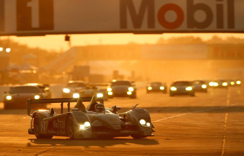 Photo wallpaper auto, Audi, race, Sunset, R10, TDI, The Mans