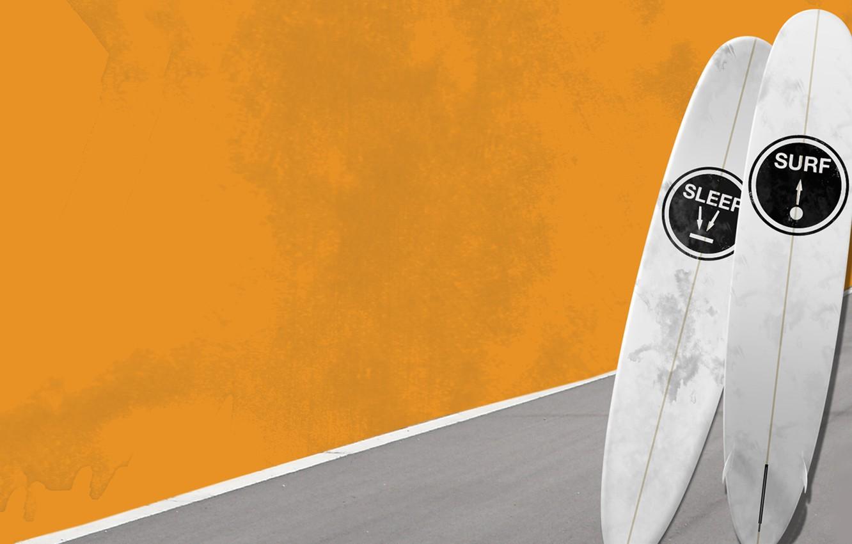 Wallpaper Sea Wave Summer Sport Board Minimalism