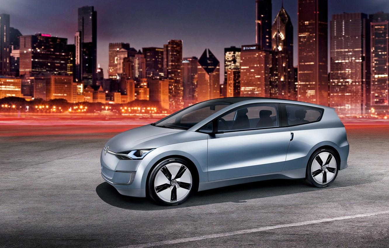 Photo wallpaper Volkswagen, the concept, Up! Lite, night city