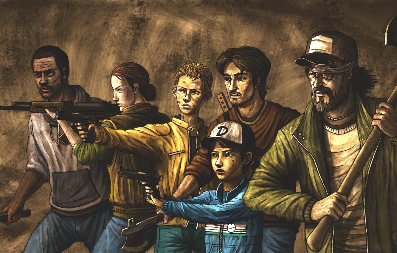 Wallpaper The Walking Dead Kenny Clementine The Walking Dead