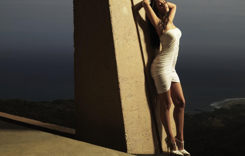 Photo wallpaper Megan Fox, dress, in white