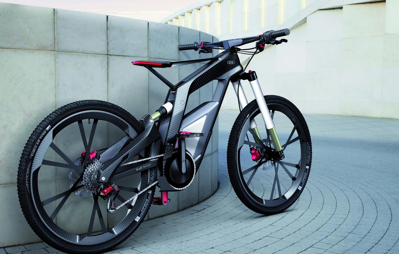 Photo wallpaper bike, audi, carbon, bicycle