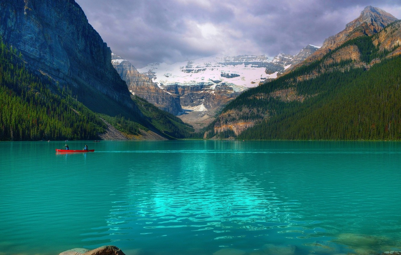 Photo wallpaper lake, Canada, canada, national Park, national park, Emerald Lake