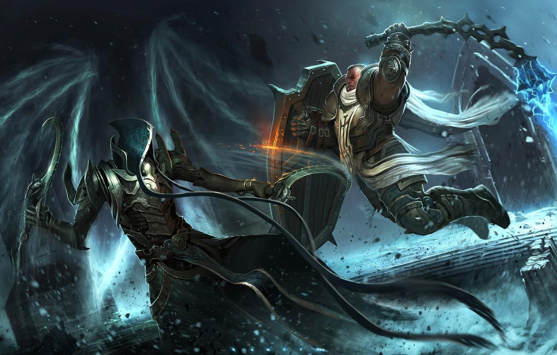 Wallpaper Art Diablo 3 Warrior Blizzard Entertainment Fan Art