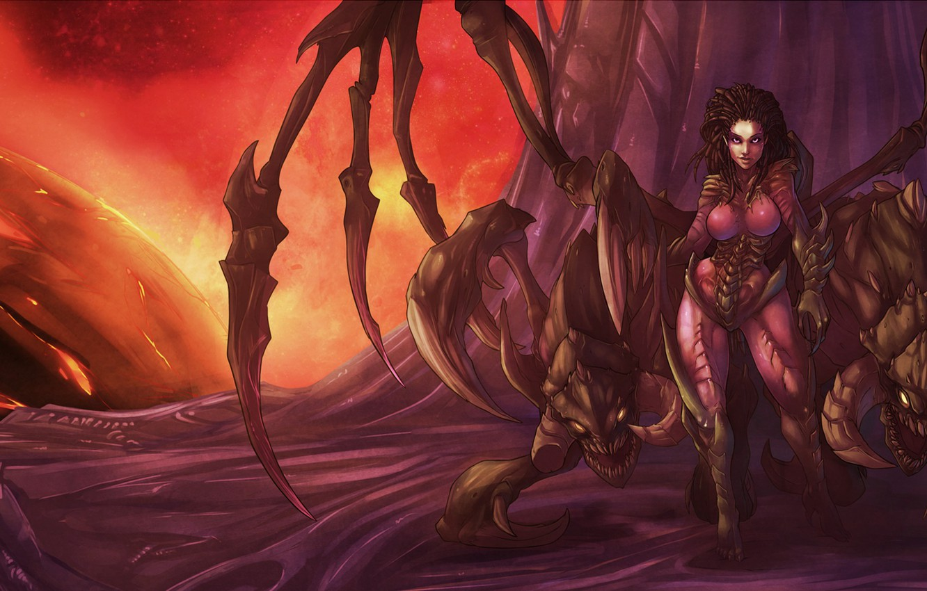 Wallpaper Starcraft Zerg Blizzard Sarah Kerrigan Queen