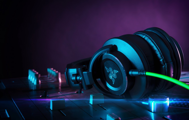 Photo wallpaper headphones, hi-tech, DJ Headphones, Razer Adaro