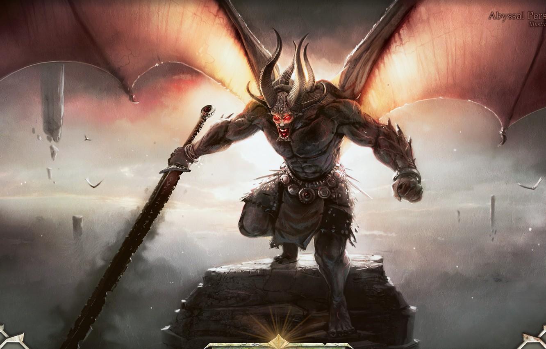 Photo wallpaper monster, sword, the demon