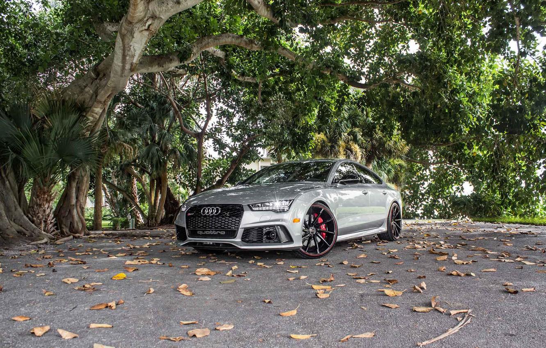 Photo wallpaper Audi, Custom, CVT, Vossen, Wheels, RS7, Painted