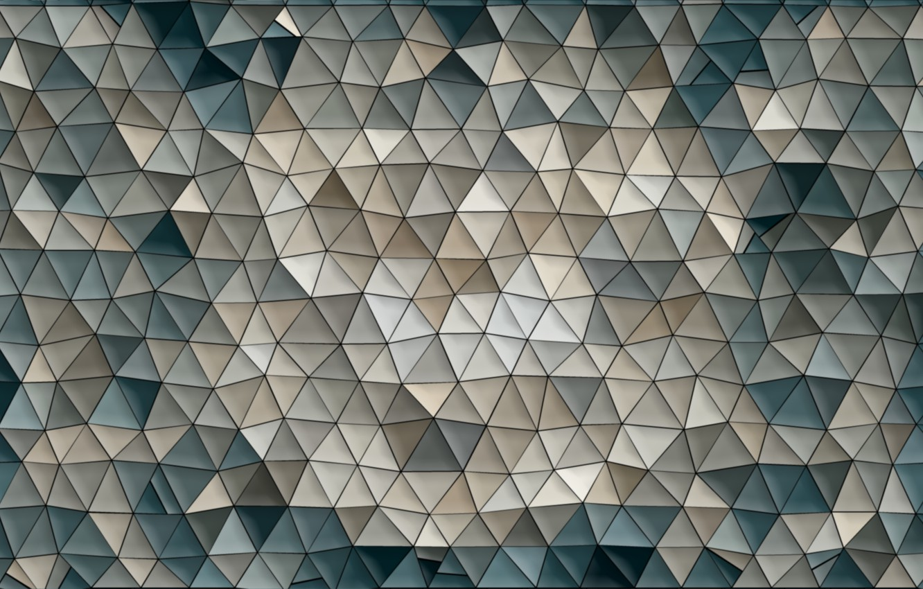 Photo wallpaper mosaic, background, abstraction, Wallpaper, pattern, color, figure, triangle, Triangles