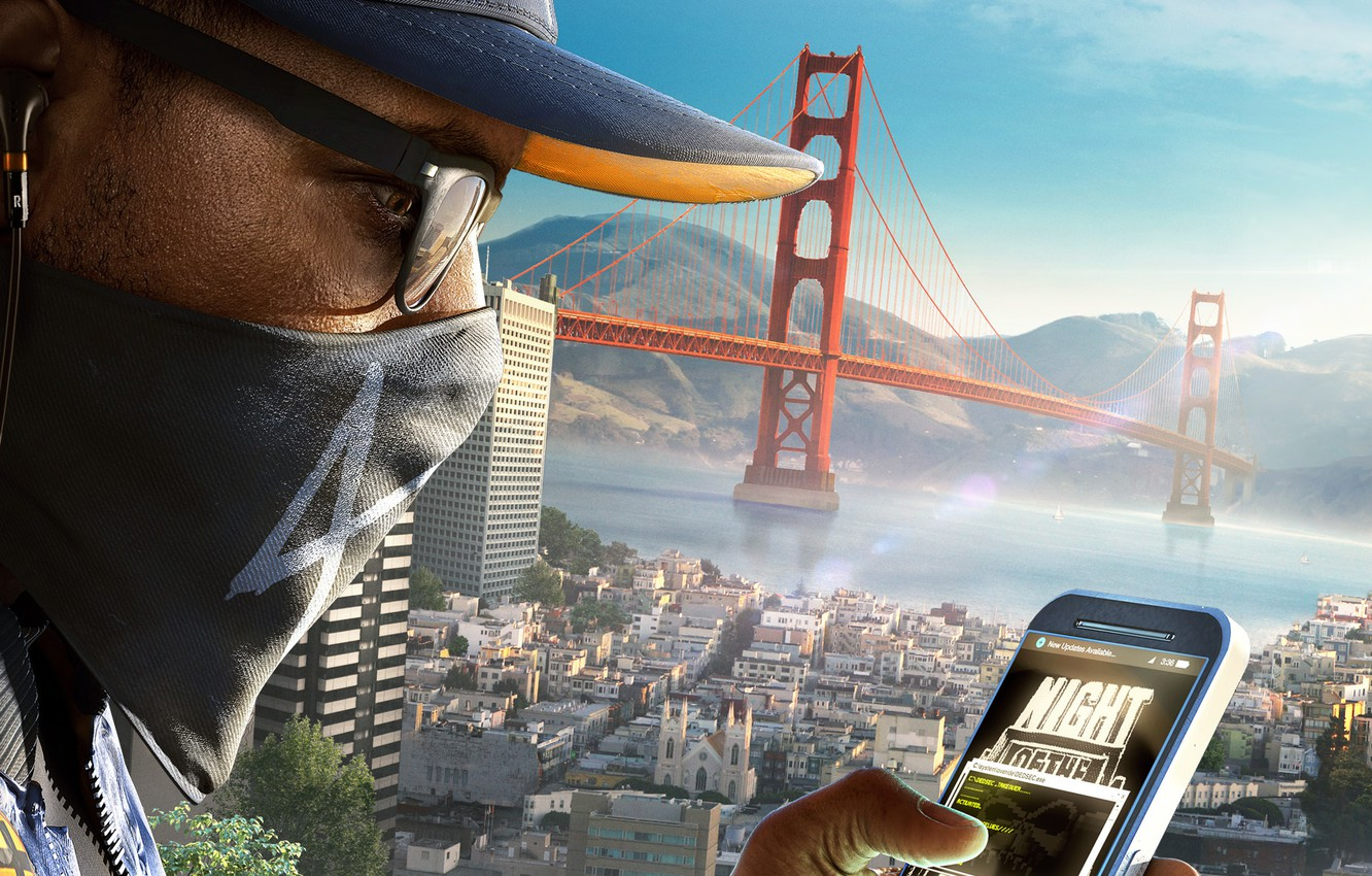 Wallpaper Ubisoft San Francisco Game Phone Marcus Holloway
