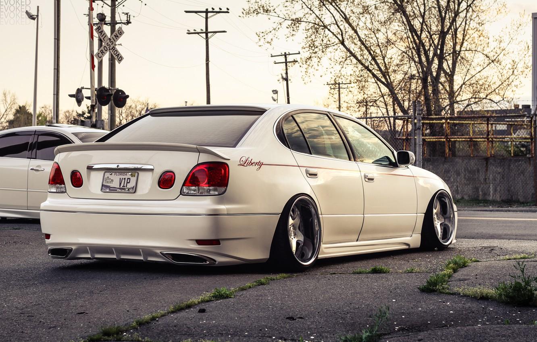 Photo wallpaper white, tuning, Lexus, stance, lexus gs