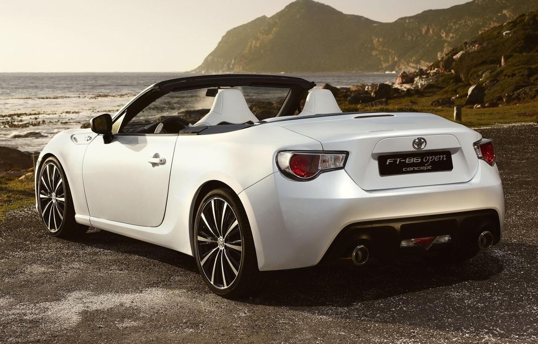 Photo wallpaper Concept, shore, convertible, FT-86, Toyota, rear view, Toyota, Open