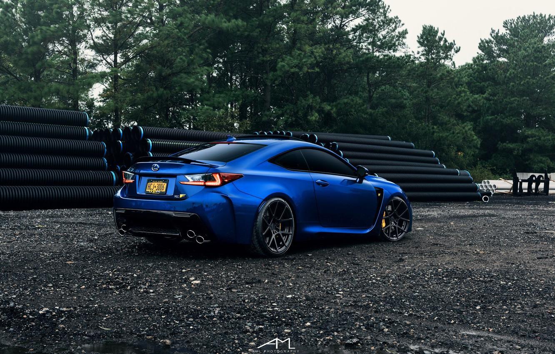 Photo wallpaper lexus, blue, Lexus, rc