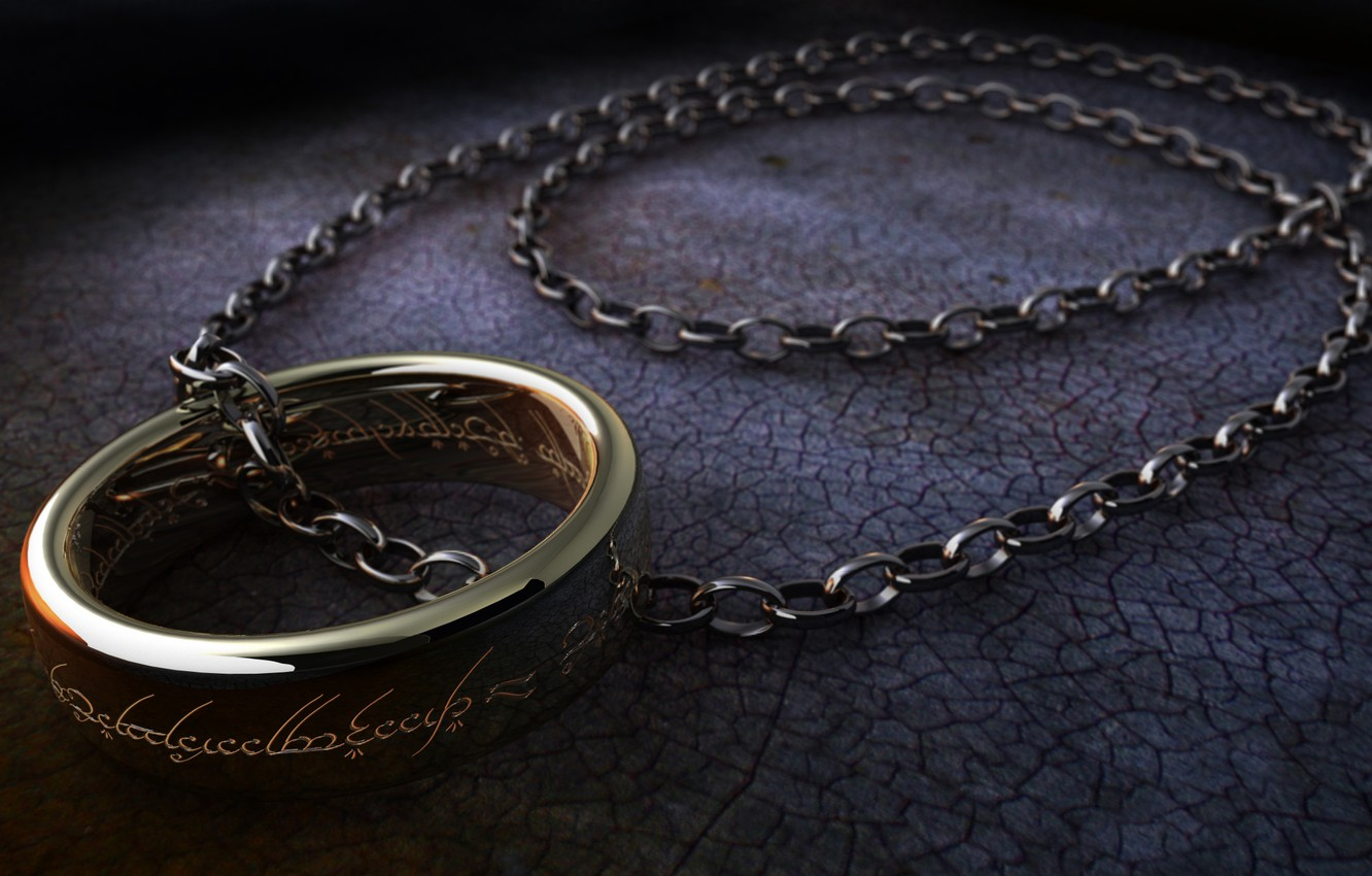 Wallpaper Surface Labels The Lord Of The Rings Ring Chain The