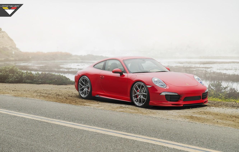 Photo wallpaper 911, Porsche, 2014, Carrera S VGT, Tuned by Vorsteiner