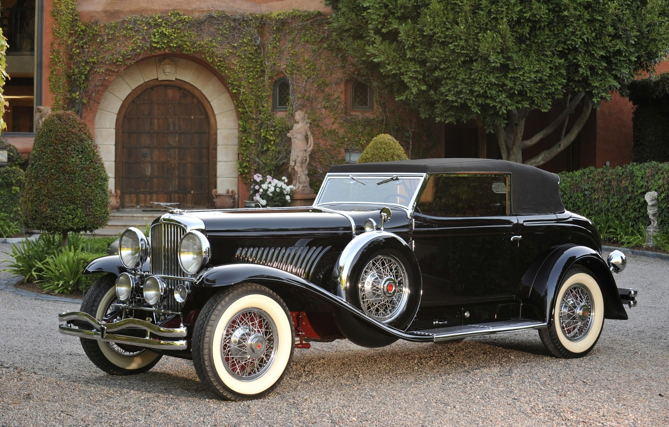 Photo wallpaper background, the front, Convertible, by Rollston, Victoria, 1933, 384, SWB, Duesenberg J, 2535