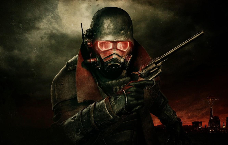 Photo wallpaper radiation, mask, fallout3, new vegas, Magnum