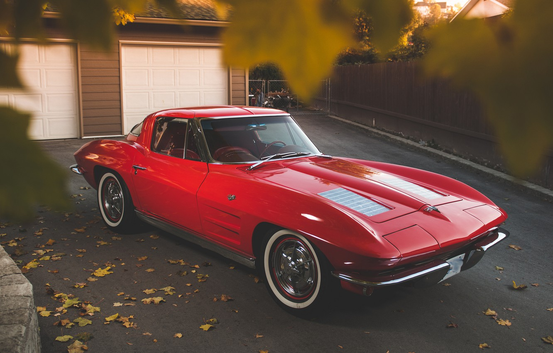 Photo wallpaper Corvette, Chevrolet, Stingray, 327