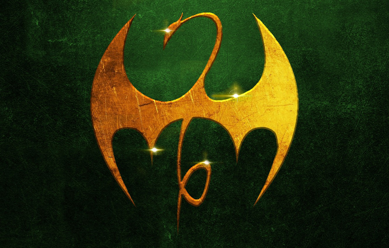Wallpaper Golden Logo Dragon Metall Marvel Comic Iron