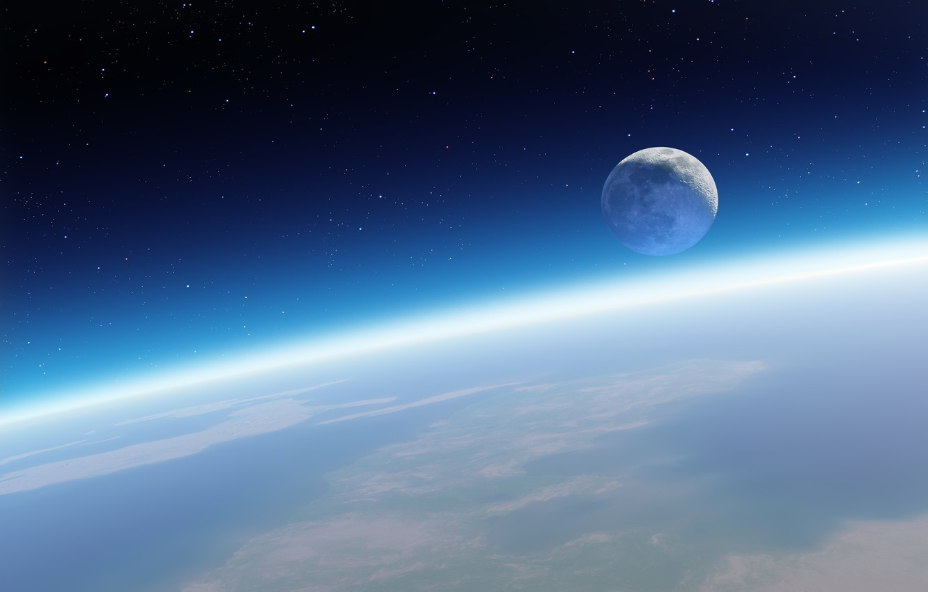 Wallpaper Earth The Moon Apple Mac Retina Images For