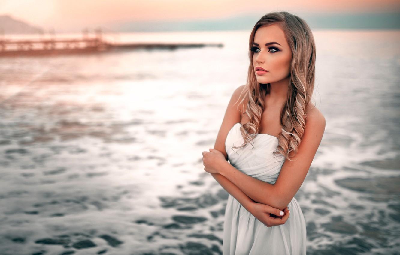 Photo wallpaper sea, the beauty, Mary Jane, Ivan Gorokhov