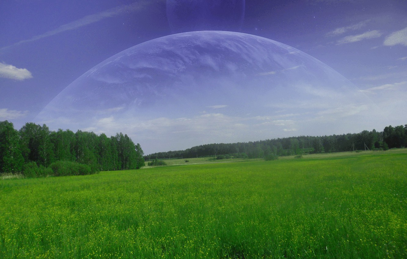 Photo wallpaper Space, Fiction, Another planet