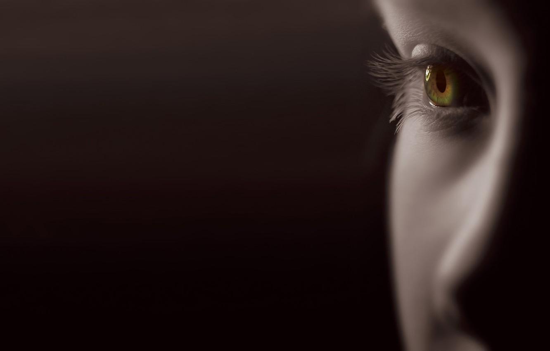 Photo wallpaper face, eyes, eyelashes