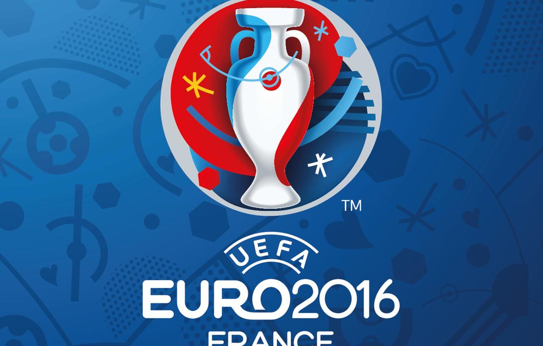 Photo wallpaper France, logo, logo, UEFA, euro 2016, Euro 2016