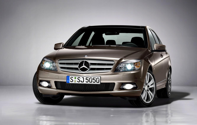 Photo wallpaper face, Mercedes-Benz, Mercedes, C-Class, S204