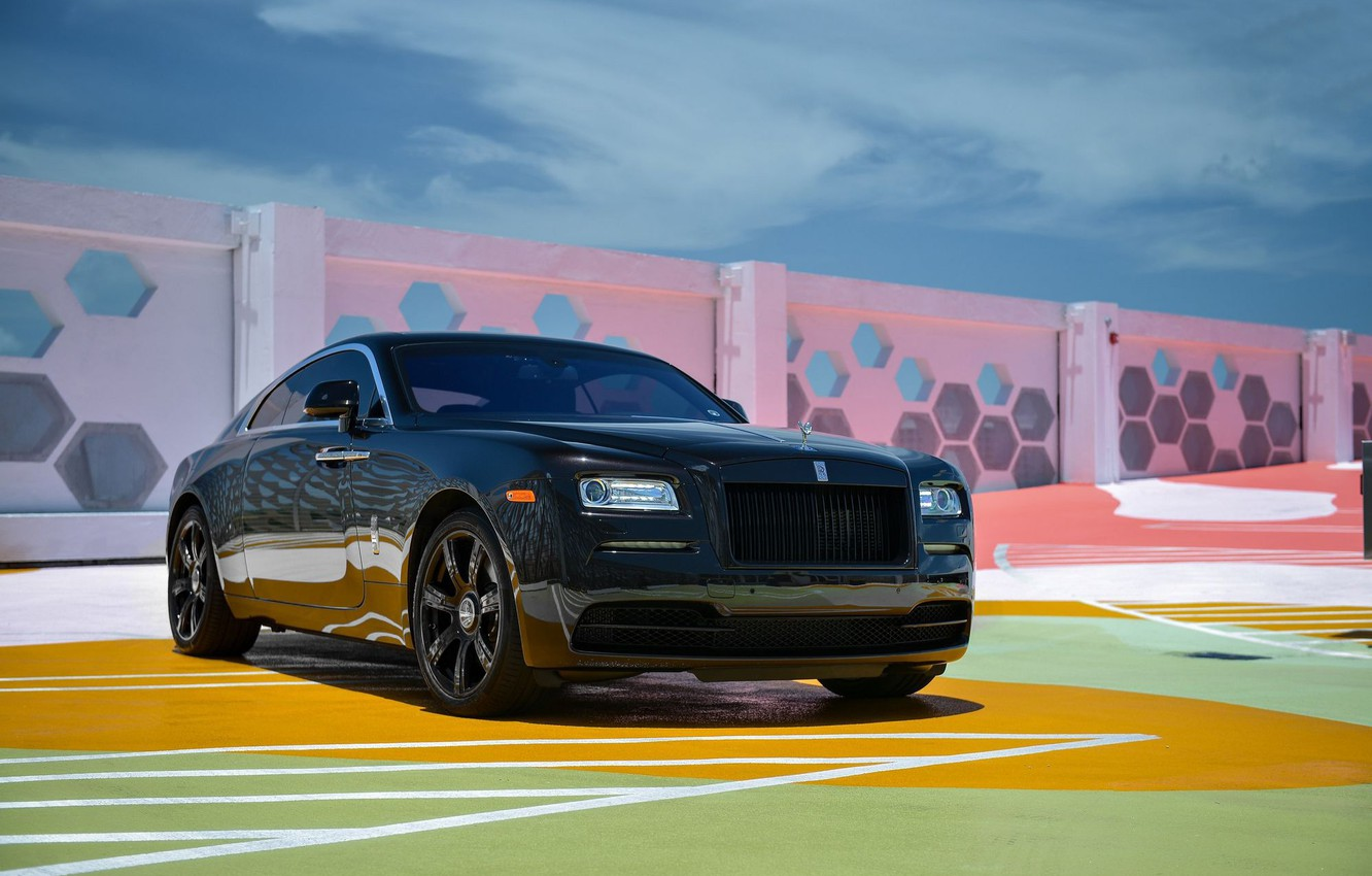 Photo wallpaper Rolls-Royce, Front, Color, Wheels, Wraith, Gril, We, Matched, Oem