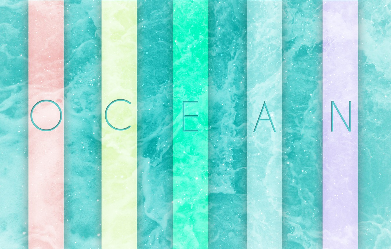 Photo wallpaper color, the ocean, abstraction, Abstract, ocean, photoshop, beautiful pictures