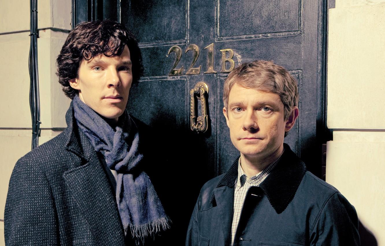 Wallpaper Season 3 Martin Freeman Benedict Cumberbatch Sherlock