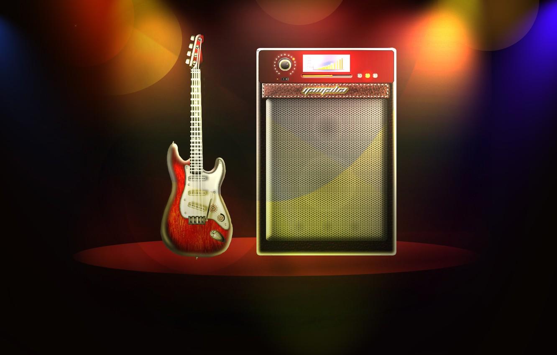 Photo wallpaper music, scene, guitar