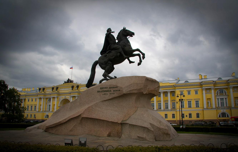 Photo wallpaper Peter, Saint Petersburg, monument, Peter, the bronze horseman