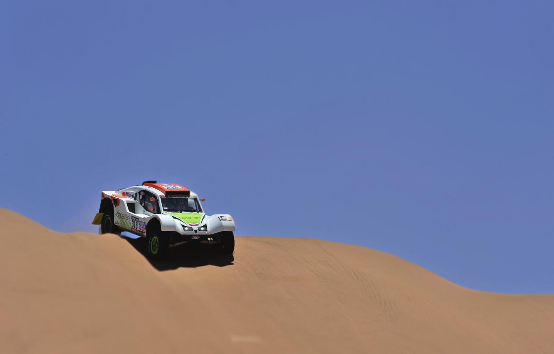 Photo wallpaper Sand, Auto, Sport, Desert, Machine, Race, Day, Rally, Dakar, Dune, Buggy, The descent, 316