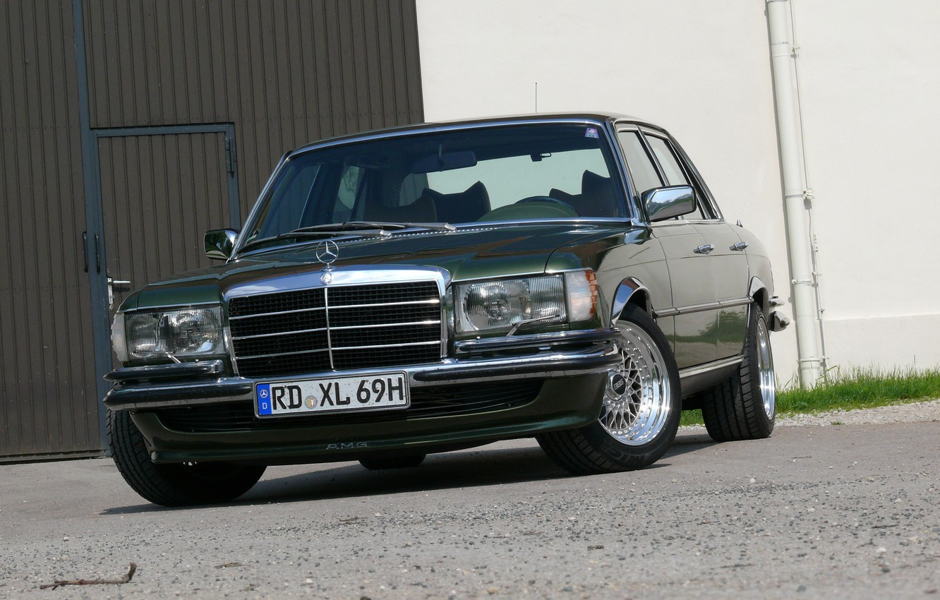 Photo wallpaper mercedes-benz, bbs, w116